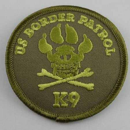 OD Green K9 Crossbones Patch - Patches / Decals