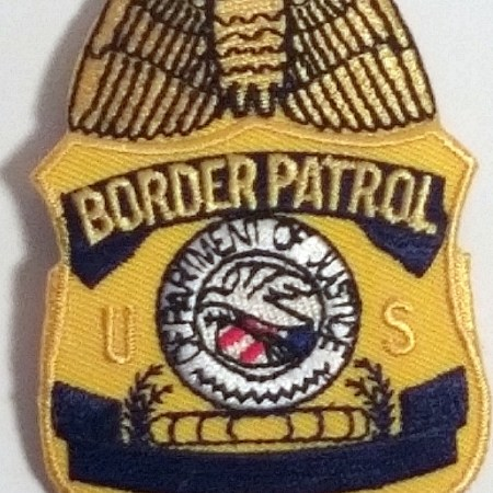 Badge Patch/ Blue Gold - Patches / Decals
