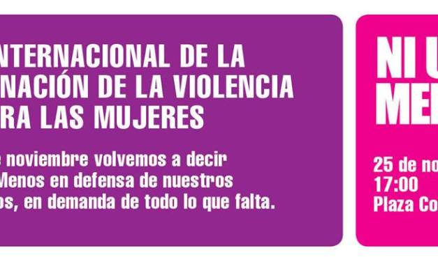 Día internacional contra la violencia de género: #NiUnaMenos