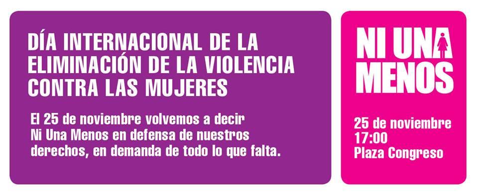 Día internacional contra la violencia de género: #Ni Una Menos