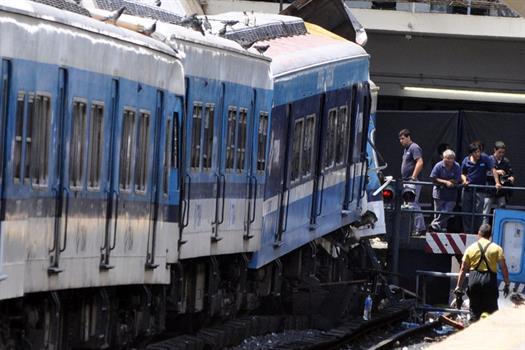 La formación del Ferrocarril Sarmiento que chocó el 22 de febrero de 2012.