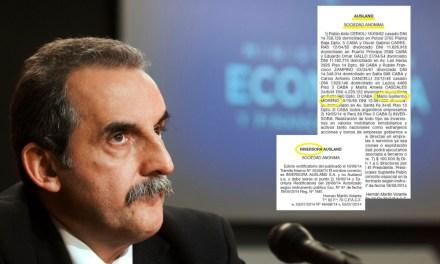 Investigación:  Moreno no declaró una misteriosa empresa, que armó con su mujer y 5 ex funcionarios