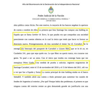 """Fariña declara que Carradori viajó a """"armar"""" empresas. Y detalla los vuelos."""