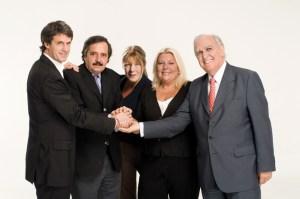 Foto de campaña del Acuerdo Cívico, en 2009. No estuvieron juntas al tomarla.