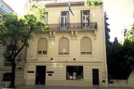 Frente del Instituto Perón, en Recoleta.