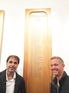 Nito Brea y el ex tenista Thomas Johansson.