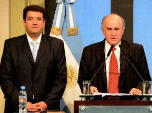 Mena y Parrilli, cuando compartían la conducción de la Agencia de Inteligencia.