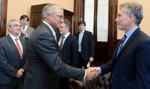 Encuentro de Macri con un directivo de Airbus. Septiembre de 2016.