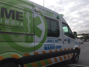 El ploteo autorrefencial de Ishii en ambulancias del SAME.