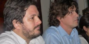 El legislador Juan Nosiglia y el candidato Lousteau.