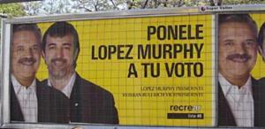 Candidato de López Murphy. Otros tiempos.
