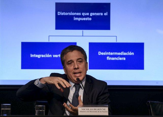 El ministro Dujovne y sus anuncios que generaron alarmas provinciales.