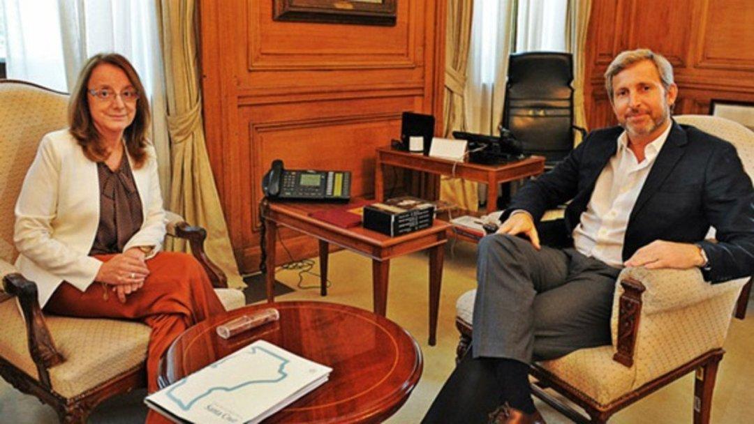 Alicia K en reunión con el ministro Frigerio. Ajuste fiscal, fondos y ley de lemas.