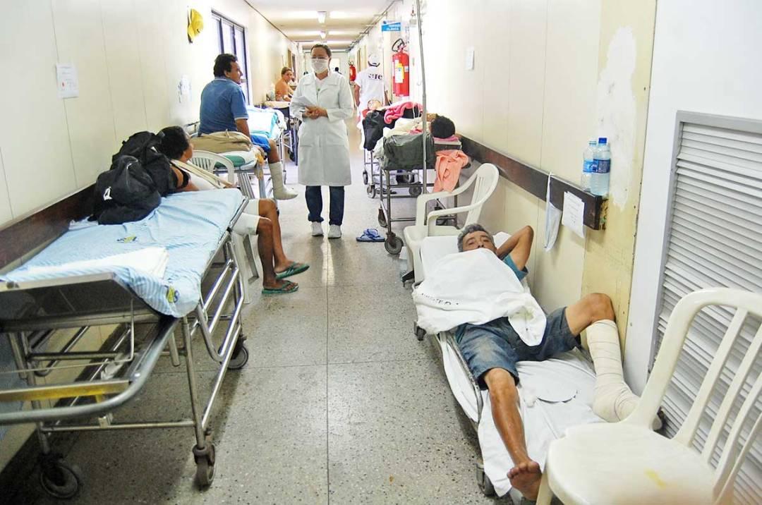 Un hospital en Brasil. Tampoco le cobran a extranjeros, aunque la atención pública es mala.