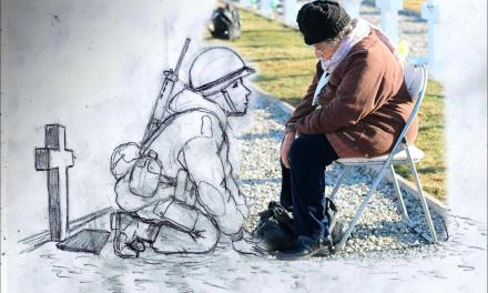 """""""Vi a mi mamá en esa foto"""", dice el dibujante que conmovió a todos con su imagen sobre Malvinas"""
