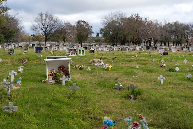 Cruces blancas. Panorámica en el cementario La Piedad, en Rosario. Ph: Guillermo Paniaga.