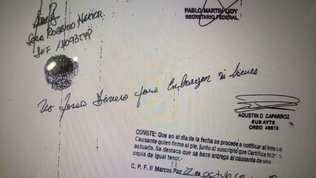 El ex secretario presidencial Sosa responde al embargo.
