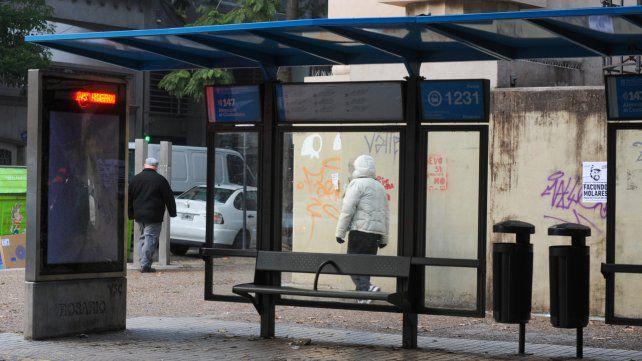 Paro de colectivos en Rosario. Fuente: Celina Mutti Lovera