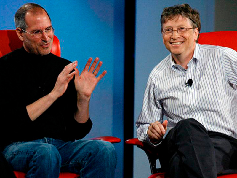 Bill Gates confesó que estaba celoso de Steve Jobs