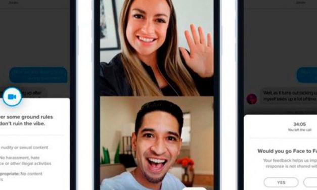 Ahora, Tinder permite hacer videollamadas: cómo funciona