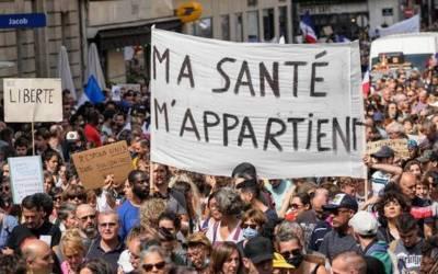 Protestas antivacunas en Francia tras los anuncios de Emmanuel Macron