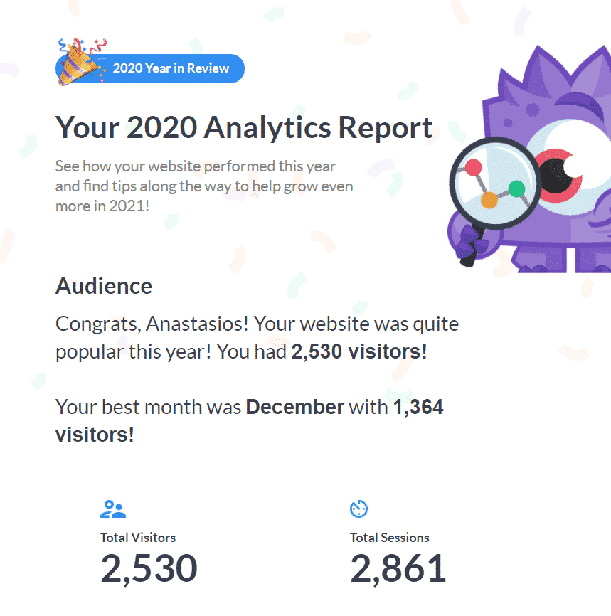 MonsterInsights report 2020 SEO