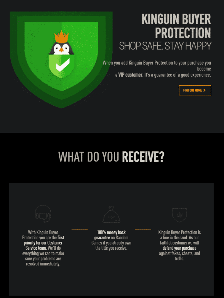 KINGUIN BUYER PROTECTION