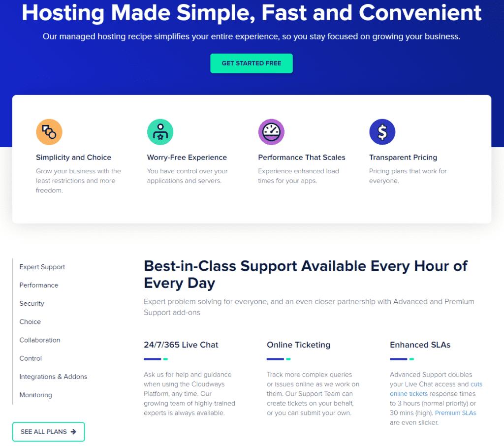 cloudways cloud-hosting features