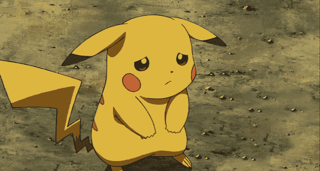 sad pikachu