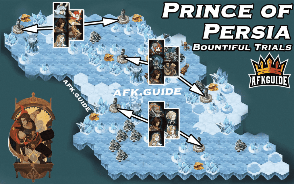 dastan prince of persia bountiful trials guide map