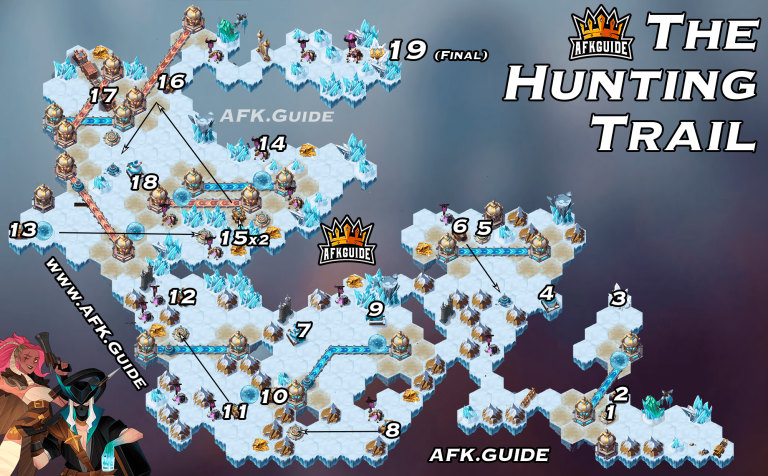 Voyage of Wonders The Hunting Trail Guide Map
