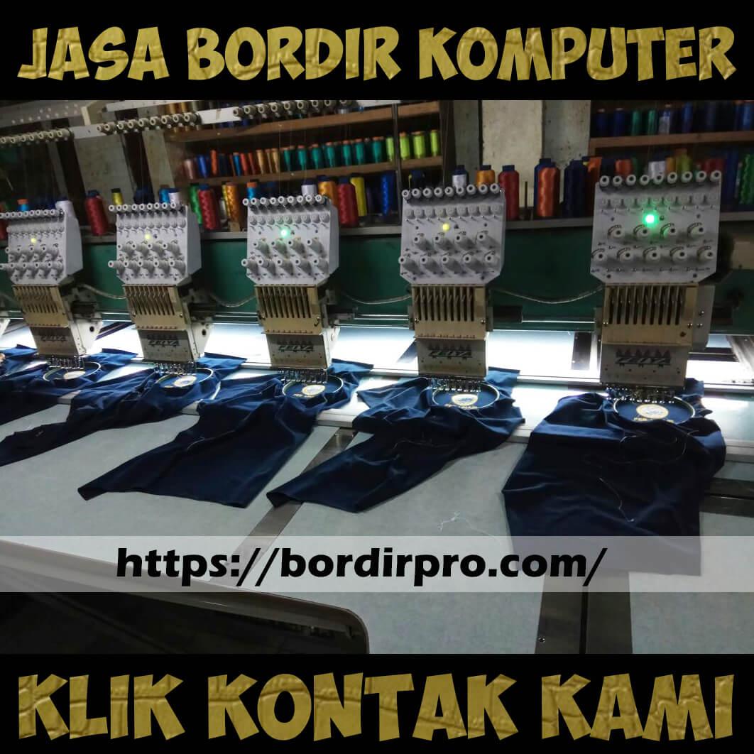 Jasa Bordir Komputer Jilbab Murah di Surabaya