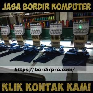 Jasa bordir komputer jilbab , bordir komputer jilbab murah di Surabaya