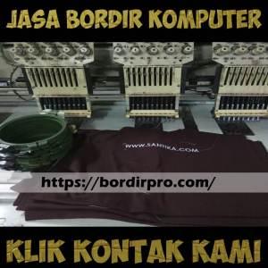 Jasa Bordir Komputer di Surabaya Pusat, Barat, Timur, Utara, dan Selatan