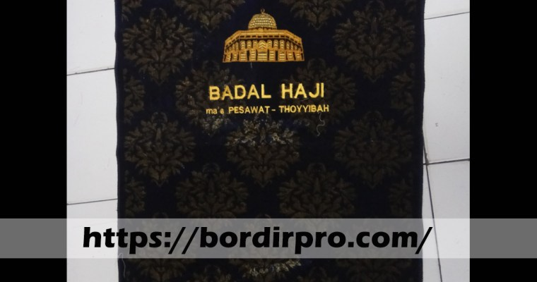Jasa Bordir Sajadah Souvenir Murah