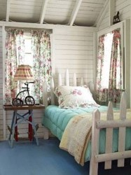 cottage bedroom picket fence bedrooms bed comfy chic country room shabby repurposed living decor fences decorating curtains wood attic salvaged