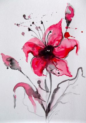 abstract paintings easy painting watercolor simple floral flowers modern flower watercolour water decor tattoo paint techniques affordable watercolors gift boredart
