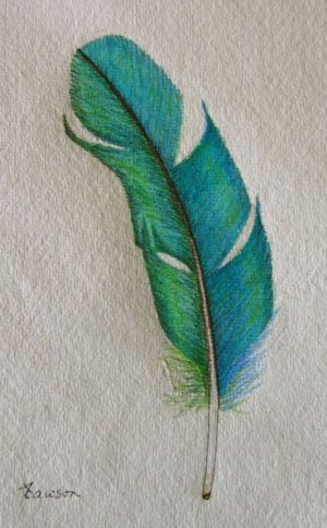 pencil colored drawings pencils coloured drawing feather sketch teal watercolor paintings painting colour tattoo boredart imagination those watercolour artwork aquarelle