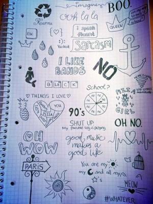 notebook inspirations gaps hidden artists between drawings doodles doodle easy drawing simple sketches boredart bored