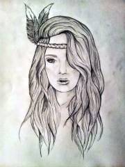 amazing hipster drawing