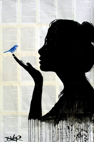 harmony amazing silhouettes painting bird inspiration silhouette jover loui drawing artist drawings saatchi paintings canvas happy contrast artwork sold bluebirds