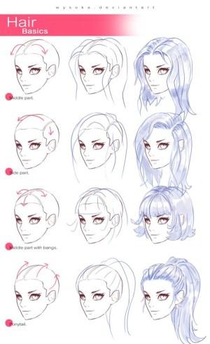 step draw hair guides