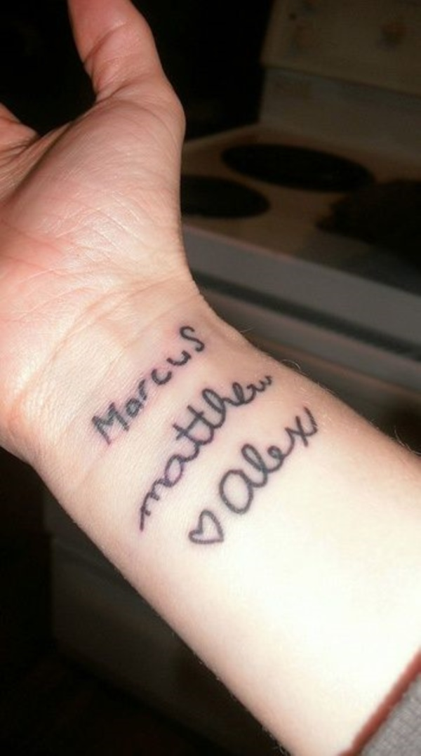 Small Tattoos With Kids Names : small, tattoos, names, Adorable, Ideas, Tattoos, Kids', Names