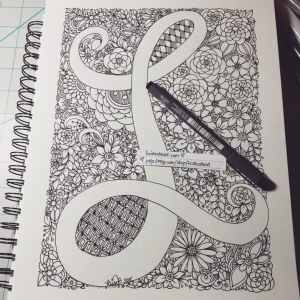 doodle easy projects artistic letter creative draw doodles try drawings drawing zen zendoodle alphabet artjournal artist flowers bored source kc