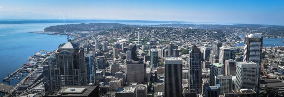 Downtown Seattle, from Columbia Center