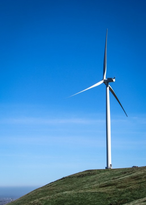 Turbine on a Hill