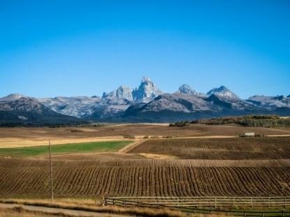 Reverse Grand Tetons from Idaho