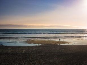 Ocean Fishing at Sunset