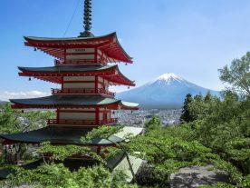 Chureito Pagoda and Fuji