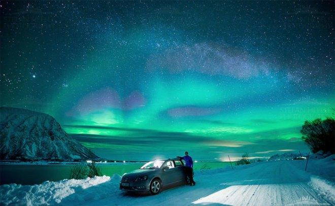 Aurora above my head by Stefan Hefele